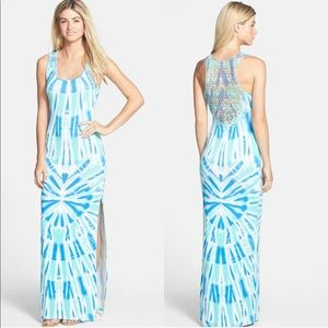 Felicity & Coco Crochet Back Tie Dye Maxi Dress